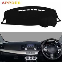 Pokrowce do stylizacji samochodu Dashmat mata na deskę rozdzielczą odcień pokrywa deski rozdzielczej dla Mitsubishi Lancer Ex FORTIS Evo 2007 2008 2009 2010 2011 2012 2015