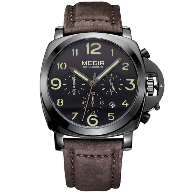 Megir Chronograph מקרית שעונים גברים יוקרה - שעונים גברים