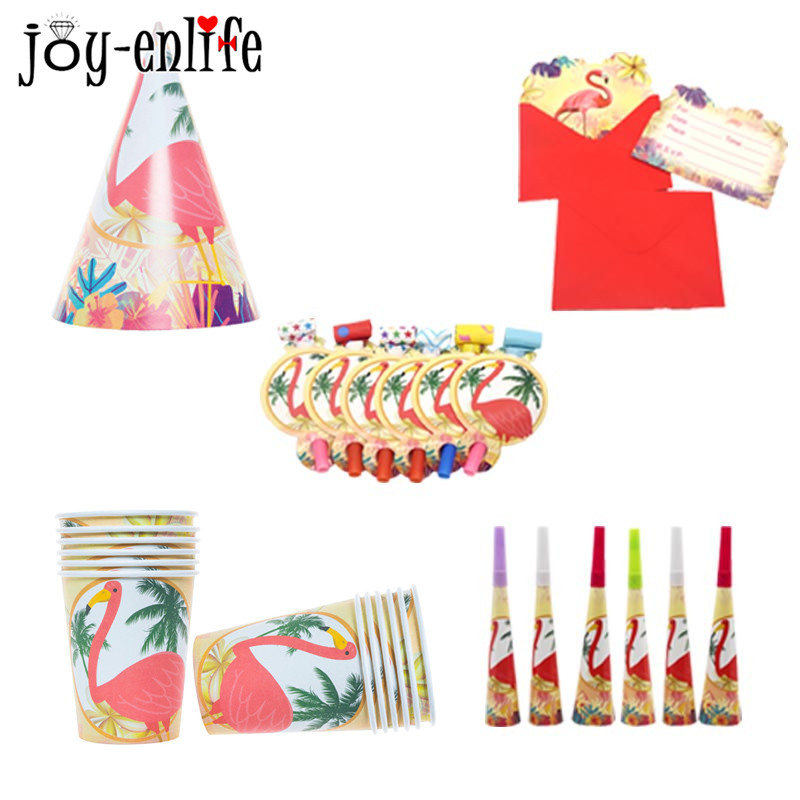 JOY ENLIFE 1set Flamingo Luau Tropical Hawaiian Party Decor Paper Plates Cups Napkins Straws Tableware Wedding Party Supplies -in Party DIY Decorations from ...  sc 1 st  AliExpress.com & JOY ENLIFE 1set Flamingo Luau Tropical Hawaiian Party Decor Paper ...