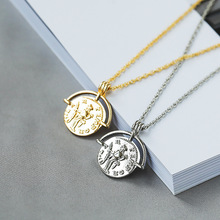 Vintage Carved Coin Necklace For Women Fashion Gold Silver Color Medallion Necklace Trendy Pendant Long Necklaces Boho Jewelry цена 2017