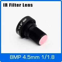 4K Lens Met Ir Filter 8Megapixel Fixed M12 1/1.8 Inch 4.5 Mm Voor Runcam/4K Actie Camera/Sport Camera/Drone Camera/Uav S