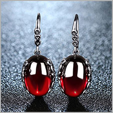HTB1wf8gm7CWBuNjy0Faq6xUlXXaS - JIASHUNTAI Retro 100% 925 Sterling Silver Round Garnet Drop Earrings For Women Natural Red Gemstone Ruby Fine Jewelry Best Gifts