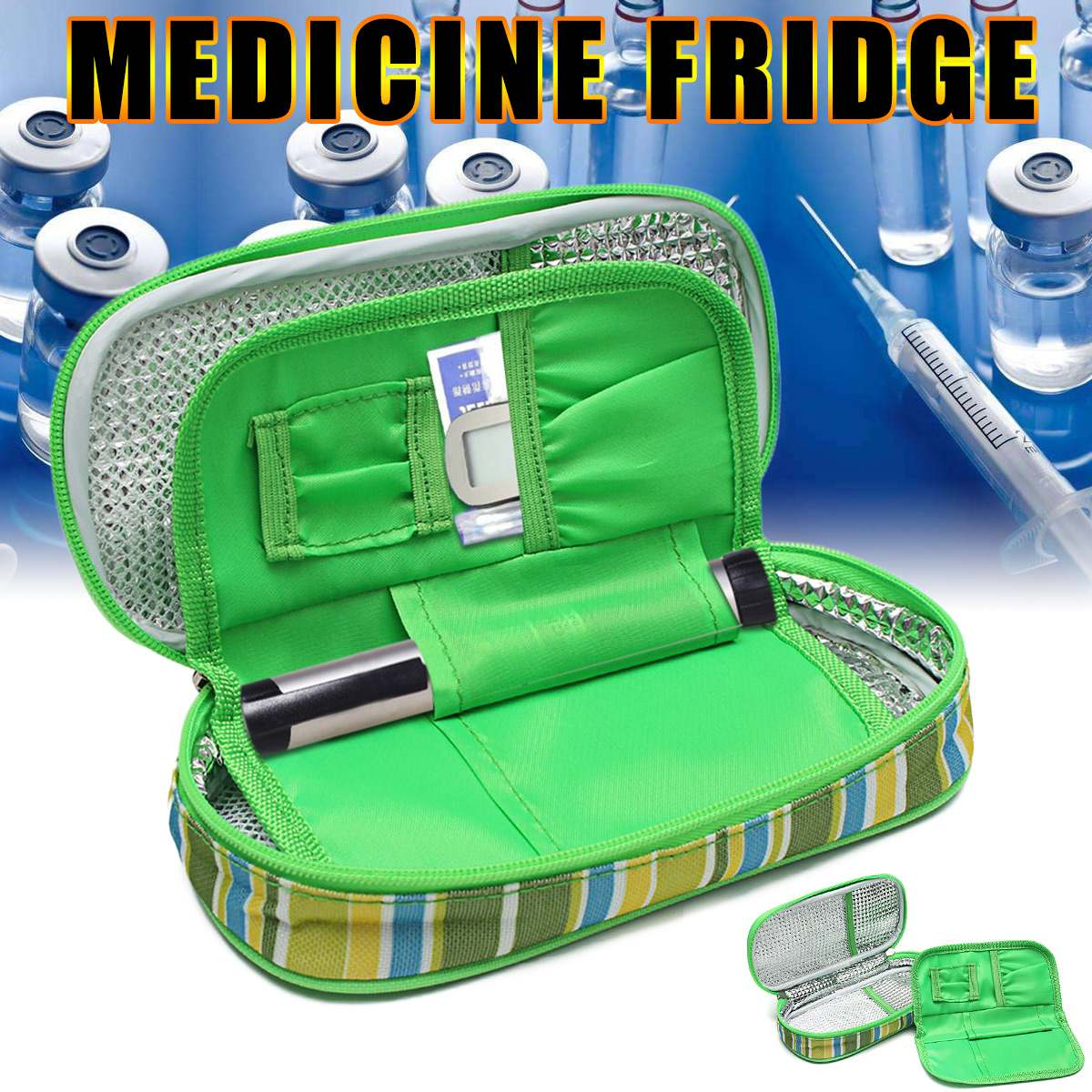 Osmond Portable Medicine Diabetic Insulin Cooling Pouch Cooler Ice Pack Bag Travel Case