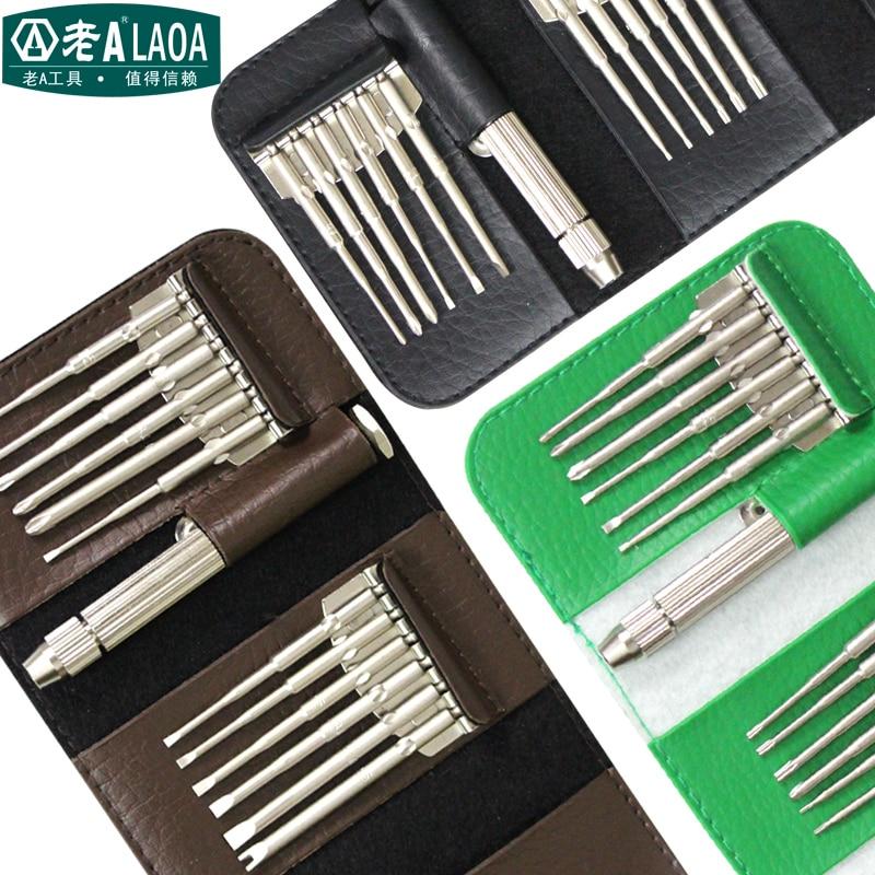 LAOA hordozható csavarhúzókészletek kiváló minőségű S2 bites elektronikai javítókészlet / mobiljavítókészletek / óraóra javítókészlet