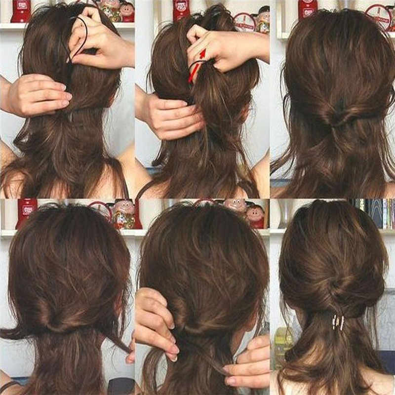 Magic Rambut Rambut Twist Styling Klip Stick Bun Gaya Rambut Pembuat Braid Toolsc Kecil Mudah Dibawa P # A45 dropship
