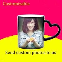 DIY фото магия Цвет изменение Кофе кружка, customizeyour фотография Волшебная чашка, творческая личность подарок на день рождения друзьям