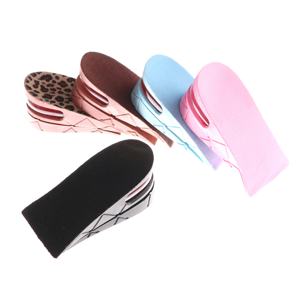 1Pair Men Women Shoe Insole Air Cushion Adjustable Heel insert Increase Lift Heel Inserts Higher Shoes Pads Layer Taller 5cm free shipping generator spare parts charge regulator and generator together sell 178f 186f 186fa suit for kipor kama