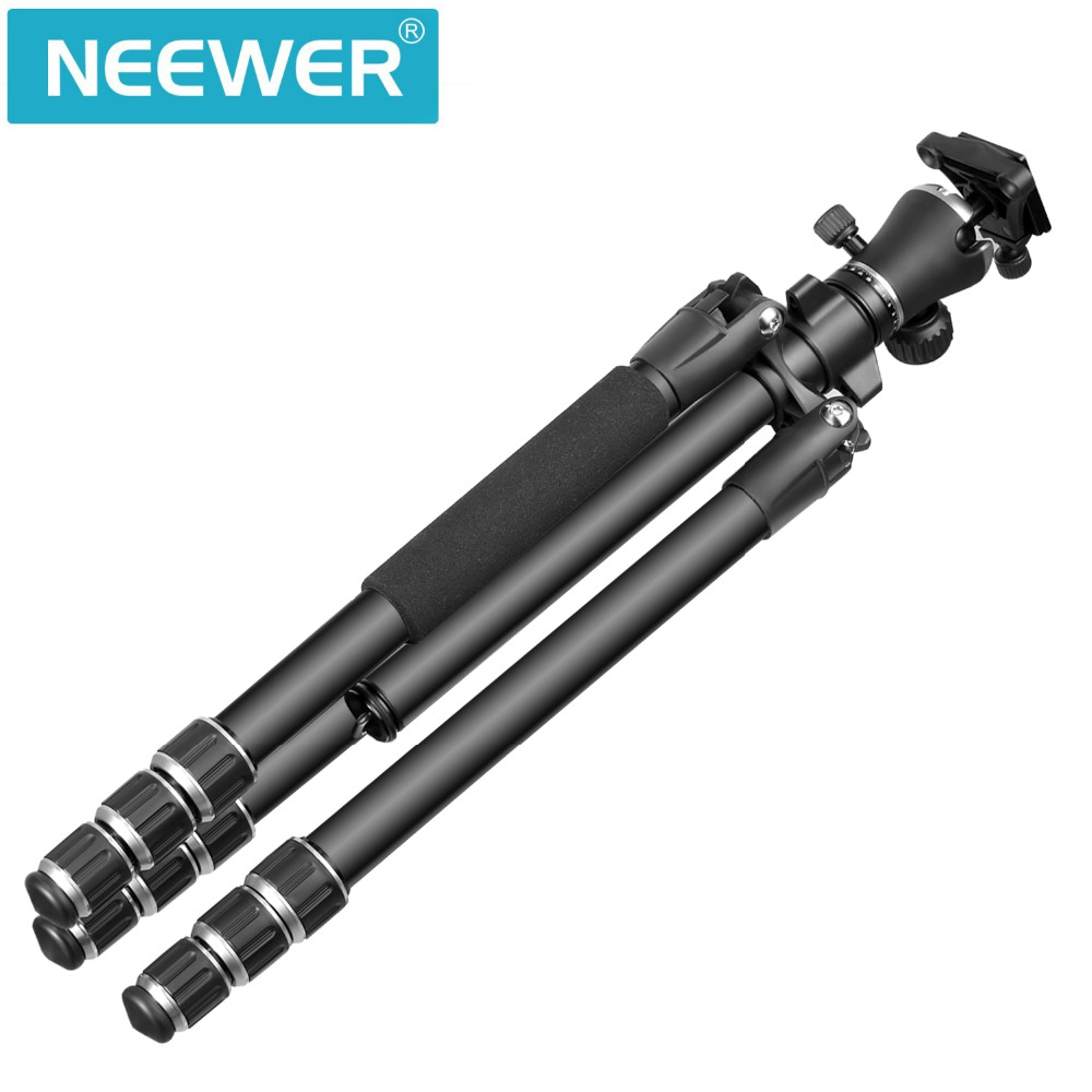Neewer Aluminum Alloy 56 inches/142 centimeters Camera Travel Tripod with 360 Degree Ball Head 1/4 inch Quick Shoe Plate and Bag neewer 20 inches portable compact desktop macro mini tripod ball head 1 4 inches quick shoe plate for canon camera tripods dslr