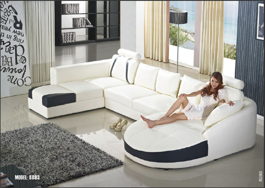 Aliexpress.com : Buy 2015 Modern U shape leather sofa /living room sofa/sofa  furniture from Reliable leather sofa suppliers on China Building Materials  Mart