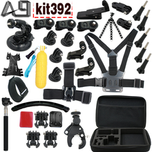 A9 action camera accessories For Gopro 5 4 3 mount for XIaomi yi 4k / Go pro hero 5 / SJCAM SJ4000 SJ9000 / Sony action camera