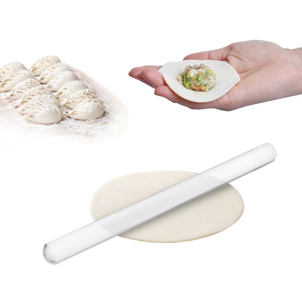 Rodillos de arcilla polimérica para Fondant, rodillos transparentes para galletas, tablas para pastelería, herramientas para pasteles, rodillos acrílicos antiadherentes