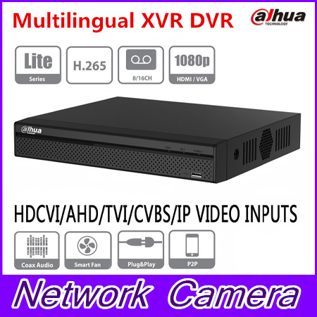 Dahua XVR5108HS-X XVR5116HS-X 8/16 Channel 1080P Compact 1U Digital Video Recorder support CVI TVI IP video for CCTV System