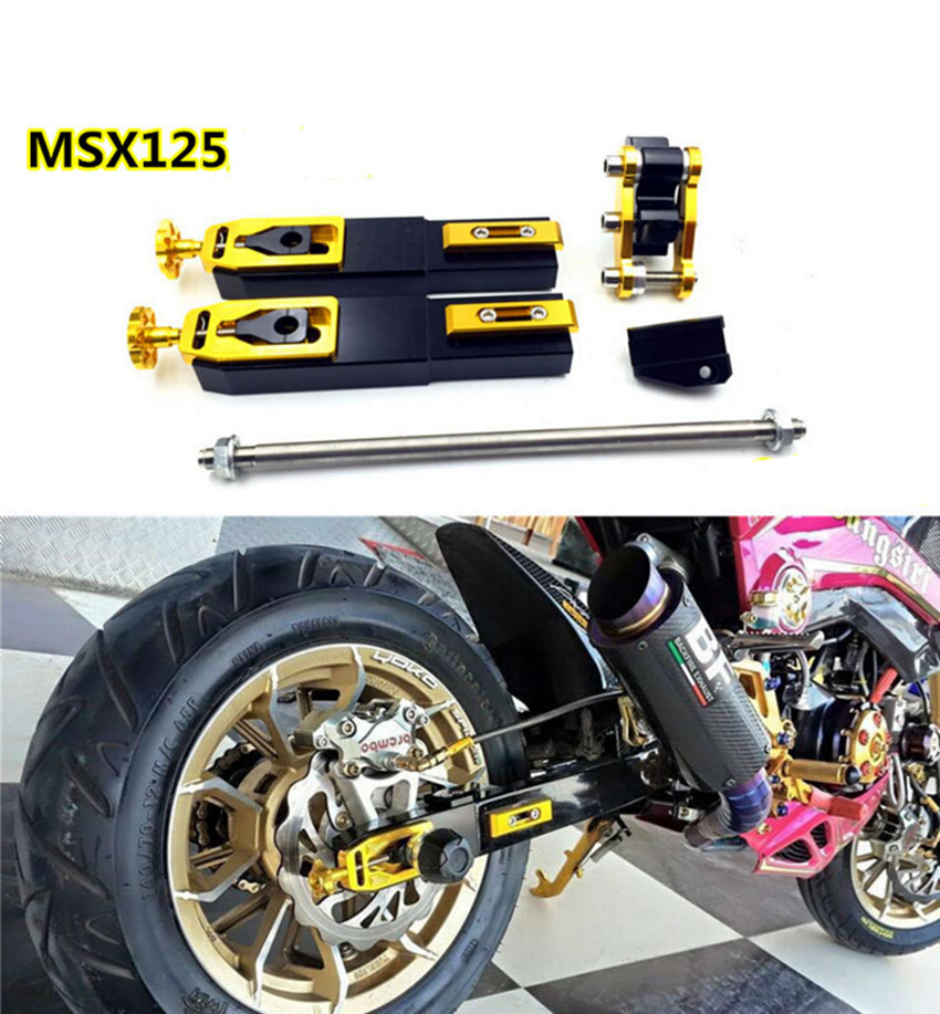motorcycle tuning parts msx125 rear fork extension device. Black Bedroom Furniture Sets. Home Design Ideas