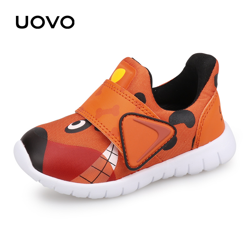 UOVO 2019 New Toddler Shoes Boys And Girls Casual Shoes Autumn Breathable Little Kids Shoes Cute Children's Footwear Size 22#-30