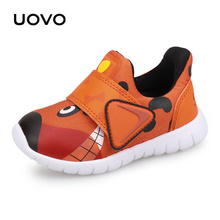 UOVO 2021 New Toddler Boys And Girls Casual Autumn Breathable Little Kids Shoes Cute Children's Footwear Size #22-30