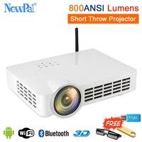 Bluetooth умный проектор 4 K 3D 1080 P Full HD Домашний кинотеатр Короткий бросок проектор 5000 люмен Android ультра Короткий бросок проектор