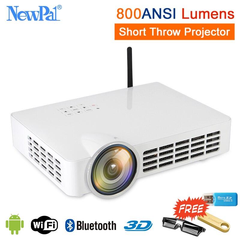 Bluetooth Smart Projecteur 4 k 3D 1080 p Full HD Home Cinéma Courte Portée Projecteur 5000 lumens Android Ultra Courte jeter Projecteur