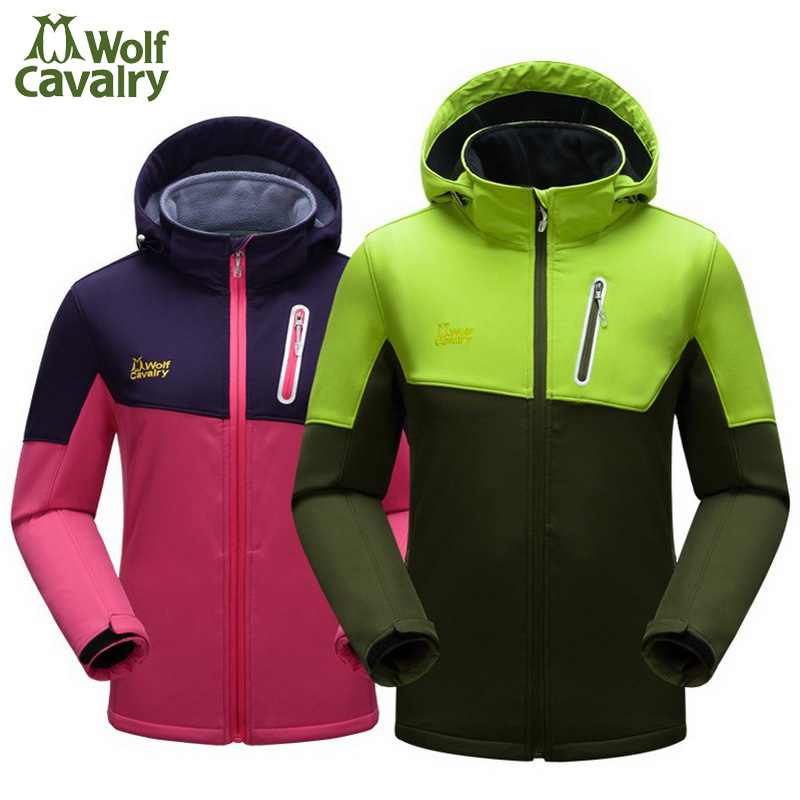 где купить CavalryWalf Brand Outdoor Softshell Hiking Jacket Men Women Winter Warm Waterproof Coat For Camping Trekking Ski Sport,AM019 дешево