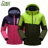 CavalryWalf Winter Outdoor Warm Softshell Jacket Men Camping Hiking Clothing Cycling Mountain Climbing Travel Rain Jackets