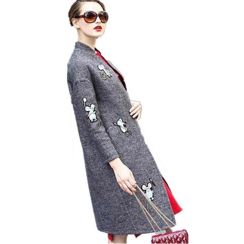 Mi Manteau The Automne Manteaux Épaississent Veste Grande En Lâche 2019 Nouveau Laine As Cw179 Hiver Mode Femmes Picture longueur Chaud Cachemire Taille wZ88IRq