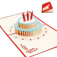 3D Pop Up Cards Invitations Valentine Lover Happy Birthday Anniversary Greeting Cards(China)