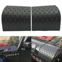 1 Pair High Quality ABS Black Thermoplastic Body Armor Side Cowl Cover For Jeep Wrangler Durable