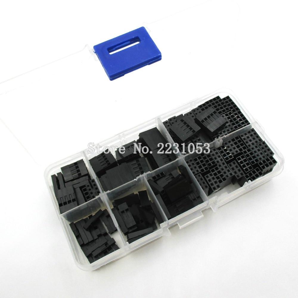 140PCS/LOT 2.54mm Plastic Dupont Jumper Wire Kit With Box 1P 2P 3P 4P 5P 2*4P 2*5P Wire Pl