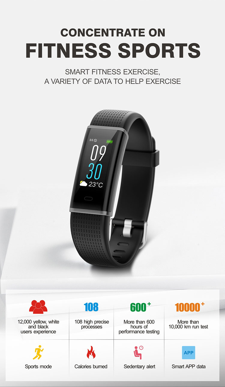 FENTORN Smart Wristbands ID130 Plus Color HR Smart Band Activity Tracker Fitness Smart Bracelet with pedometer for Xiaomi Iphone phones (1)