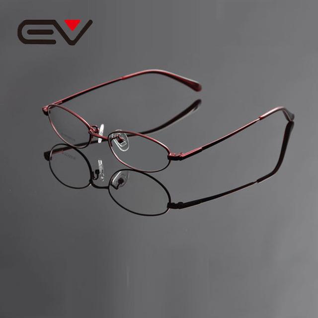 Ev tatinio oculos de feminino mulheres titanium titanium eye glasses óculos full frame retro óculos de miopia óptico ev0949