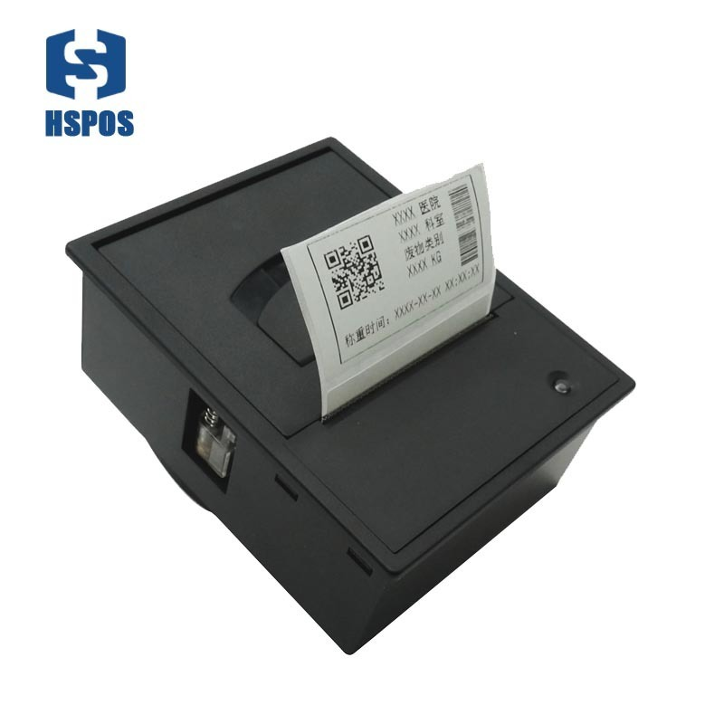 2 Inch Embedded Thermal Label Printer TTL Or RS232 Auto Human Scale Printing Machine Optional Support Control Lock Opening Cover
