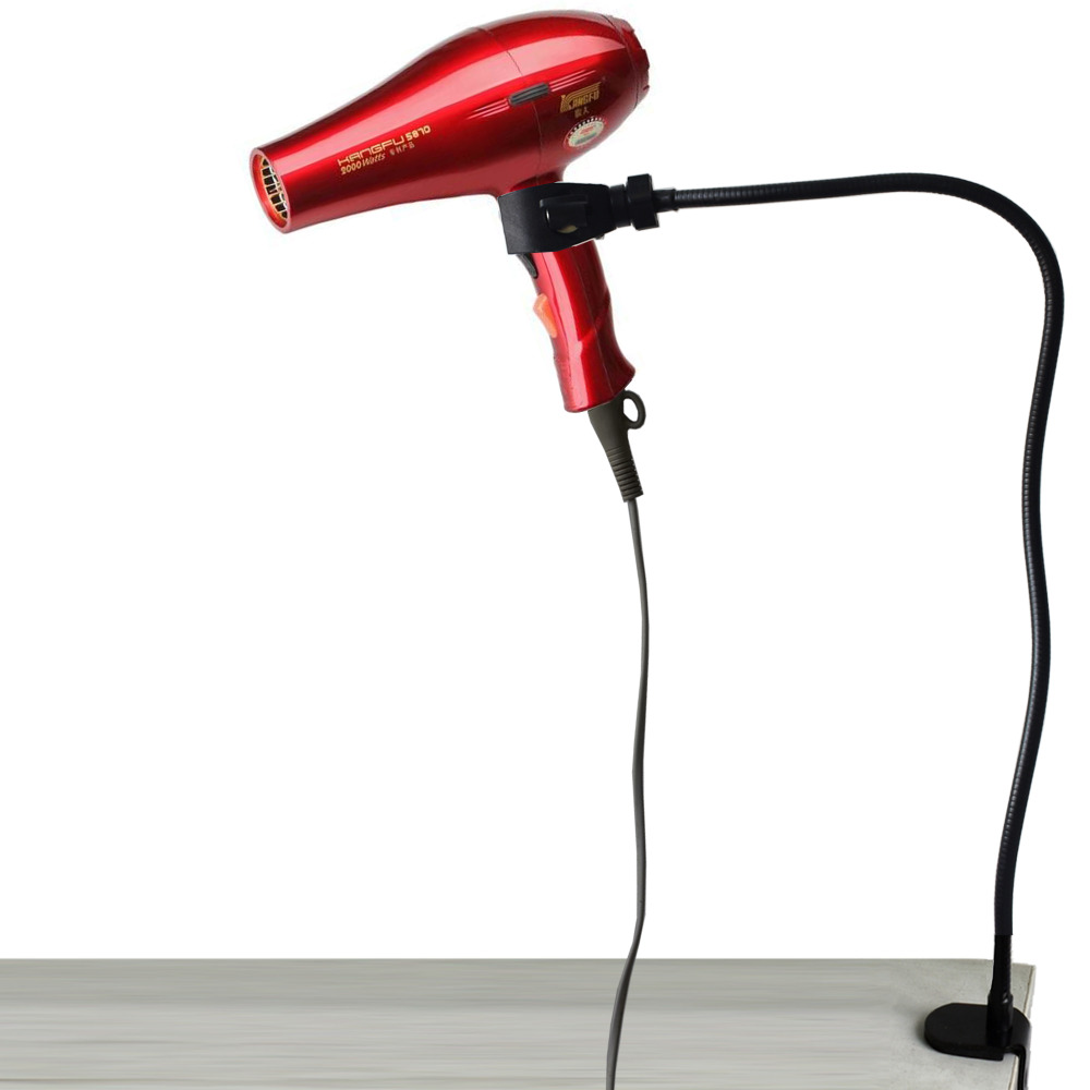 Hands Free Hair Dryer Holder W Clamp - No Hair Dryer- Fit Up To 2 Inch Desk - No Hair Dryer