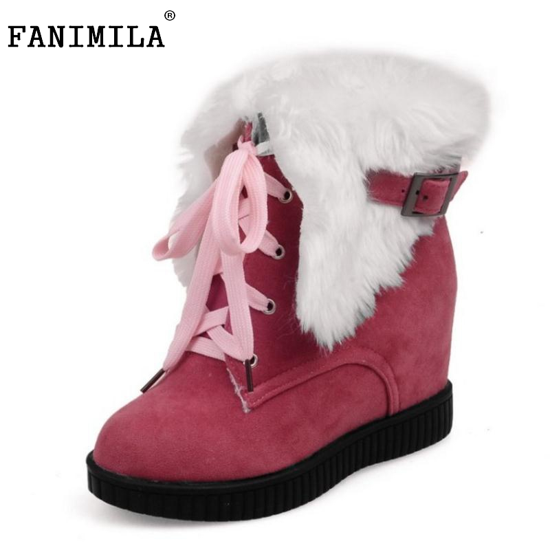 Women Round Toe Flat Ankle Boots Woman Lace Up Botas Mujer Female Buckle Winter Warm Fur Snow Boot Woman Shoes Size 34-39 botines mujer 2016 autumn spring women boots lace up print motorcycle ankle boot ladies flat shoes woman botas mujer xwx3362