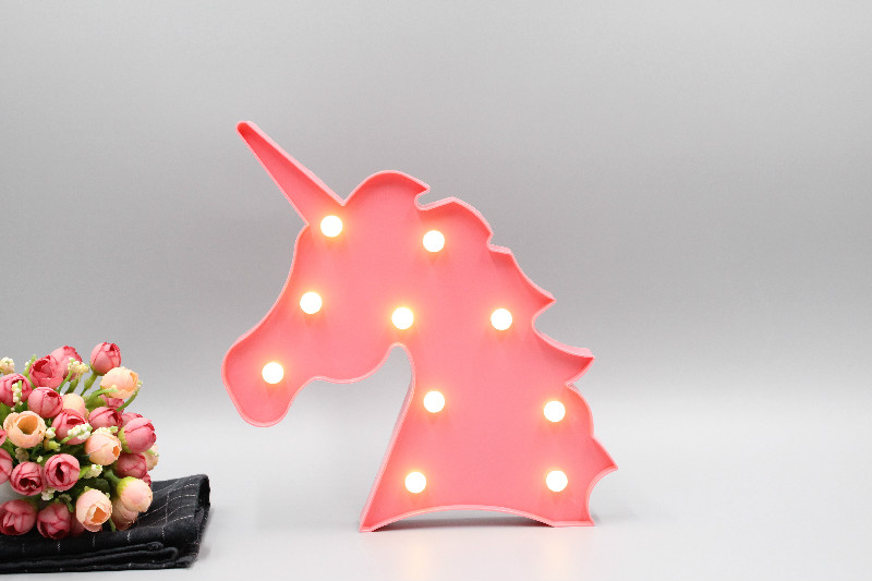 TONGER Unicornio LED Night Light Baby Unicorn Lamp Cactus Star Moon Light Cartoon Animal Kids Toys Gift Home Decoration