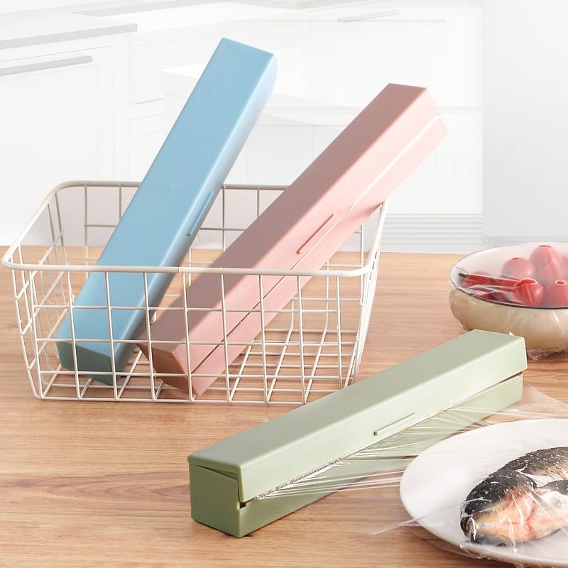 Plastic Wrap Dispensers Stainless Steel Plastic Wrap Cutter Kitchen Gadgets Preservative Film Cutter Kitchen Accessories