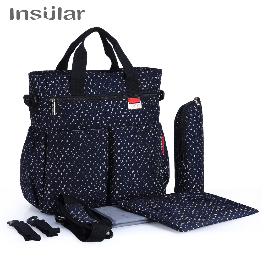 все цены на 2018 Fashion Baby Diaper Bag Multifunctional Nappy Bags Waterproof Changing Bag Nappy Diaper Stroller Bag