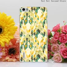 1304Q Des Integrated Tartan Pattern Hard Transparent Case Cover for Huawei P6 P7 P8 Lite Honor 6 7 G7 4C 4X