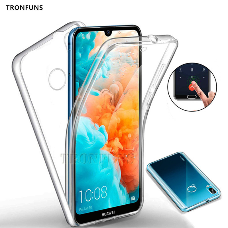 Double Soft Silicon <font><b>Case</b></font> for <font><b>Huawei</b></font> P30 P20 Lite P Smart Plus Y9 Y7 <font><b>Y6</b></font> Pro <font><b>2019</b></font> Mate 20 Honor 10 Lite Nove 2i 3e Full Body Cover image