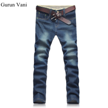 Men's Jeans High Stretch Fashion Blue Denim Brand Men Slim Fit Jeans Size 30 32 34 35 36 38 40 42 44 Pants Jean