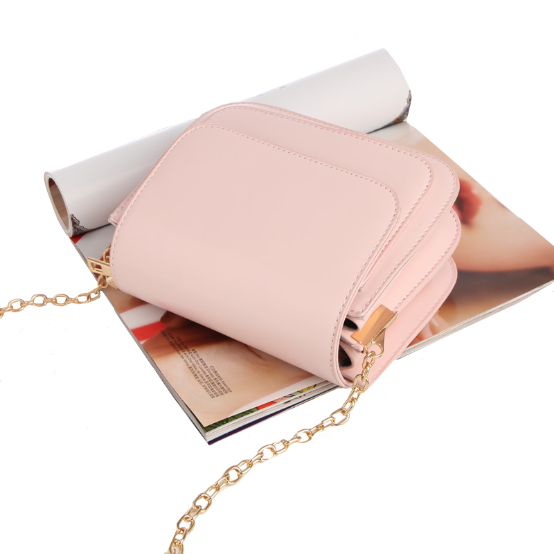 2018 European and American fashion small square bag multilayer women's handbags shoulder bag with chain crossbody bags for girls 4