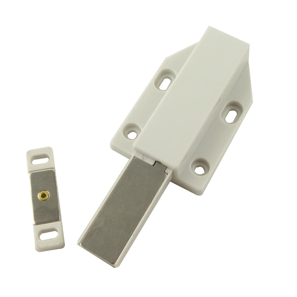 2pcs Magnetic Door Catches Stops Push To Open Plastic Holder Latch Door Closer For Cupboard Kitchen