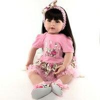 Kawaii силиконовые куклы младенцы Reborn сопровождать Спящая Baby Doll Реалистичного элегантное платье принцессы подарок для малышей Brinquedos с одеждо