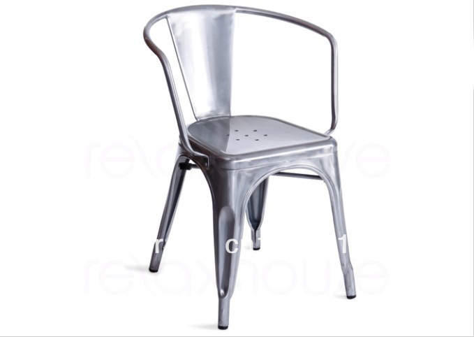 Tolix replica galvanised arm chair colorful vintage for Stuhl replica