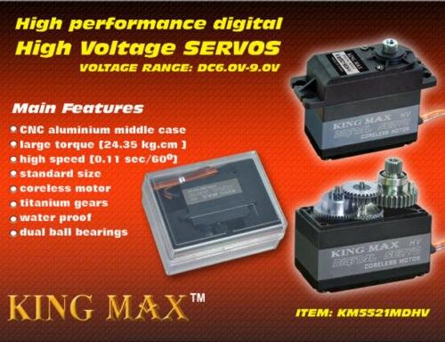 KINGMAX KM5521MD Digital Servo,metal gears standard servo 40.5X20.2X44.2mm jx pdi 5521mg 20kg high torque metal gear digital servo for rc model