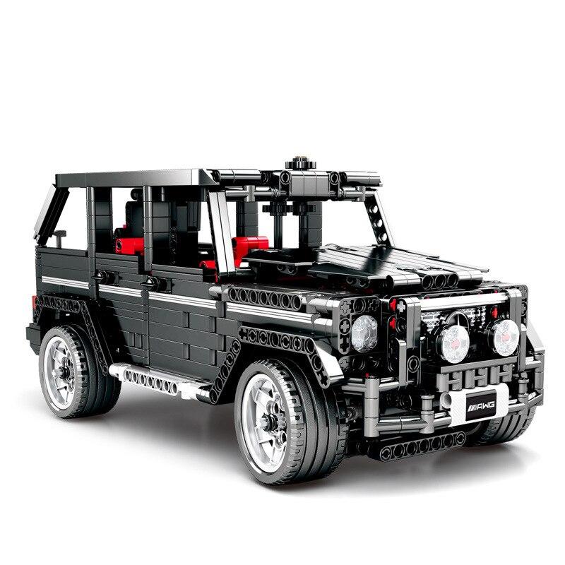 1343 個子供のビルディングブロックのおもちゃ互換 Legoingly 市テクニックメルセデス · ベンツビッグ G 車モデルレンガ少年誕生日プレゼント  グループ上の おもちゃ & ホビー からの ブロック の中 1