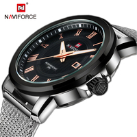 NAVIFORCE Top Luxury Brand Mens Watch Back Light Hands Business Fashion And Casual Quartz Watch Men
