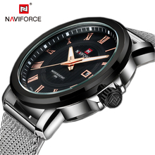 NAVIFORCE Top Luxury Brand Women Watch Back Light Hands Business Fashion Casual Ladies Quartz Watches Waterproof Montre Femme(China)