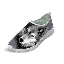 c72d8befc7d NOISYDESIGNS Повседневное осень Летняя обувь из сетчатого материала Для  мужчин 3D животного Волк обувь Прохладный Собака Хаски п.