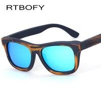 RTBOFYไม้แว่นกันแดดผู้ชาย2017ใหม่แฟชั่นแว่นตากันแดดไม้ไผ่ออสเตร