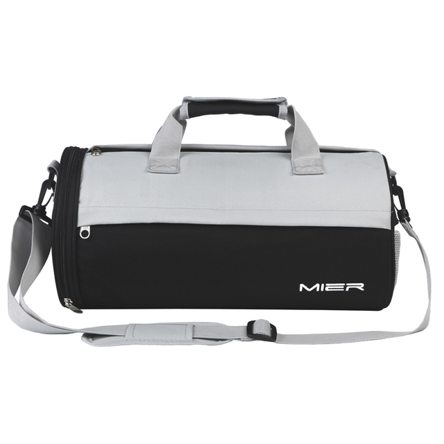 af79e8235f33 MIER Barrel Gym Bag Small Sports Bags Handy Duffel with Shoes Compartment