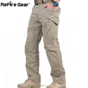 Casual Trousers Cargo-Pants SWAT Army Men Combat Tactical Cotton Stretch Many-Pockets